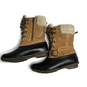 Sperry Brown Duck Rain Winter Boots
